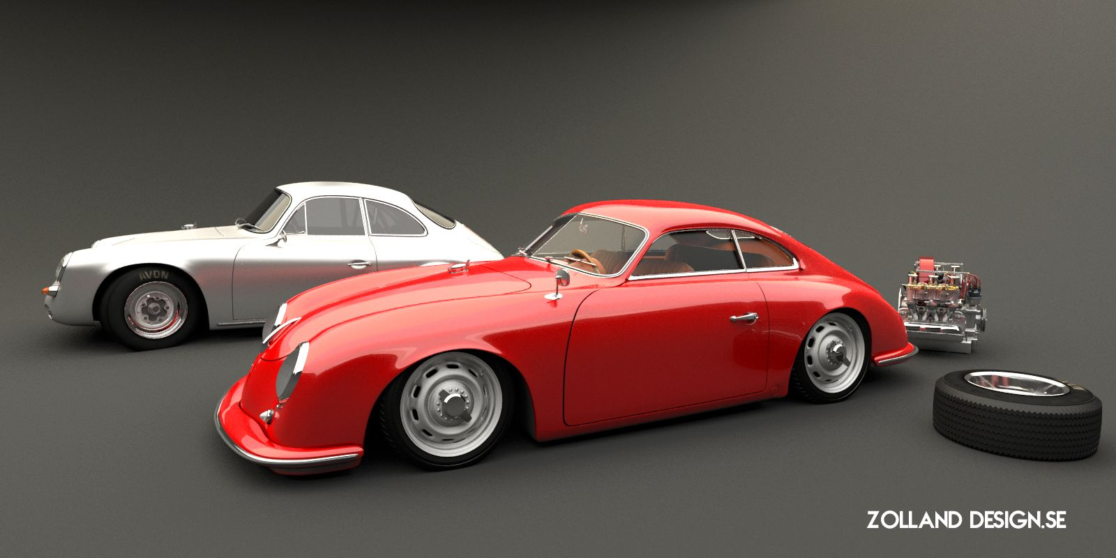 Porsche 356 Outlaw Custom By Bo Zolland Transportation Sketches Models Art Pinterest