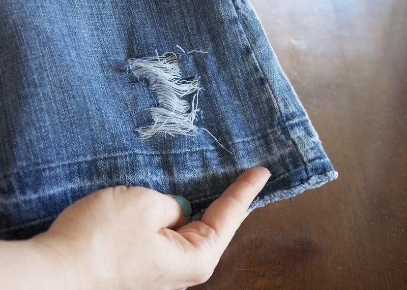 How to distress your own denim the easy way diy