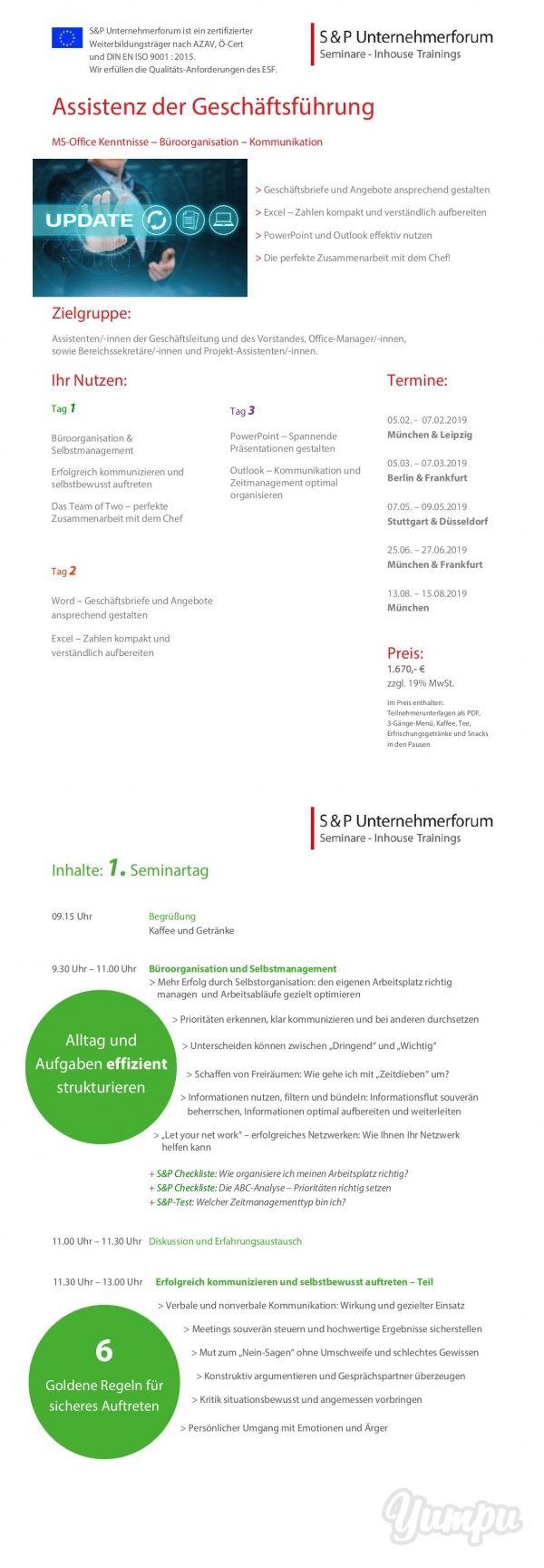 Sp Seminare Assistenz Der Geschäftsführung Magazine With 8