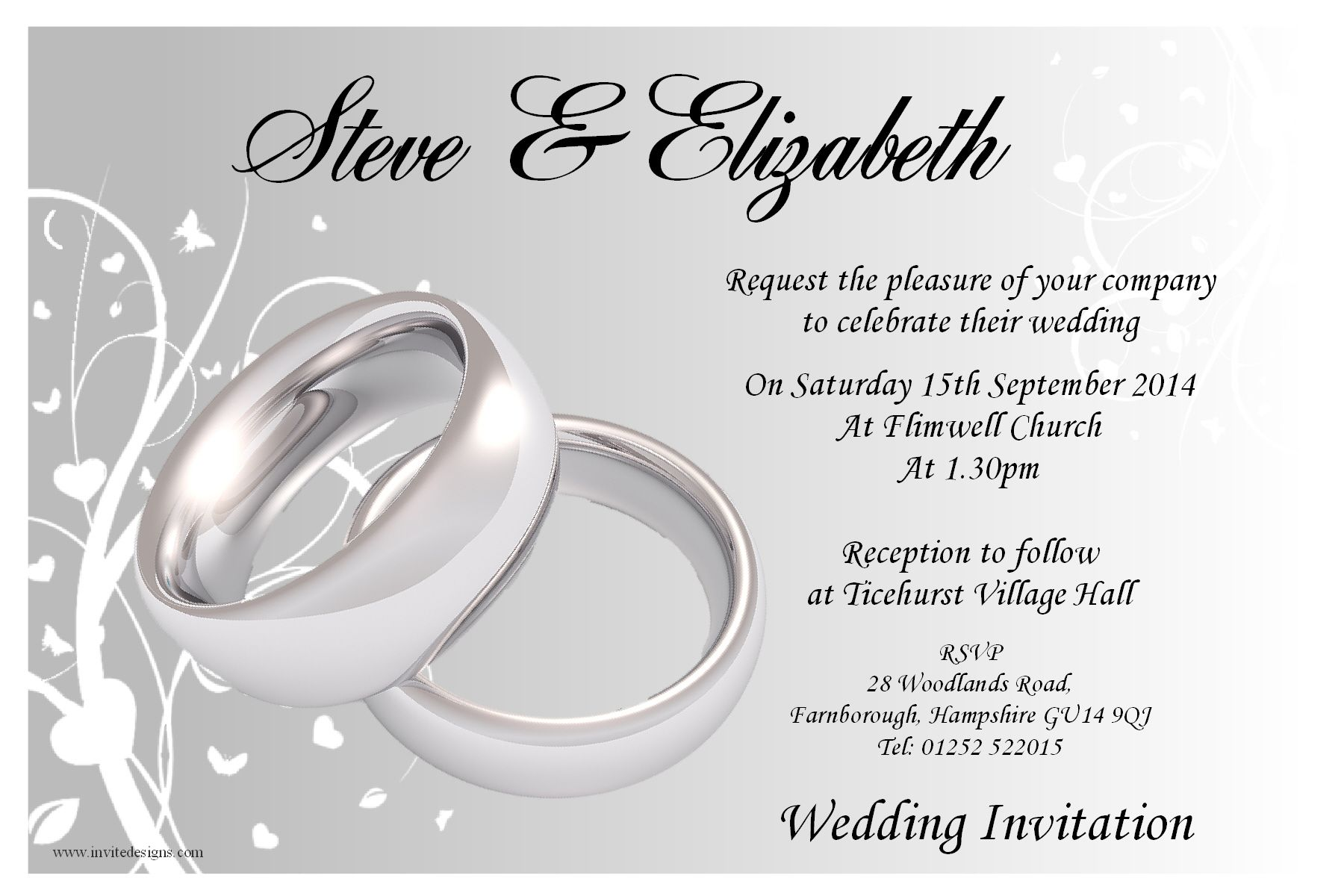 Civil Wedding Invitations Wording Templates Google Search - Wedding invitation templates: silver wedding invitations templates
