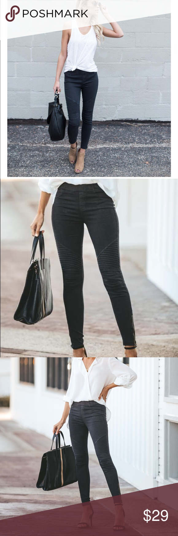 01bccd1644a24f VICI Piper Jegging - Black Our bestselling moto jegging, a coveted  favorite! Our Piper