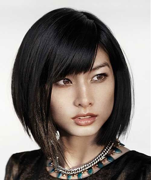 Asian short bob hairstyles for fine hair | Asian short hair, Short ...