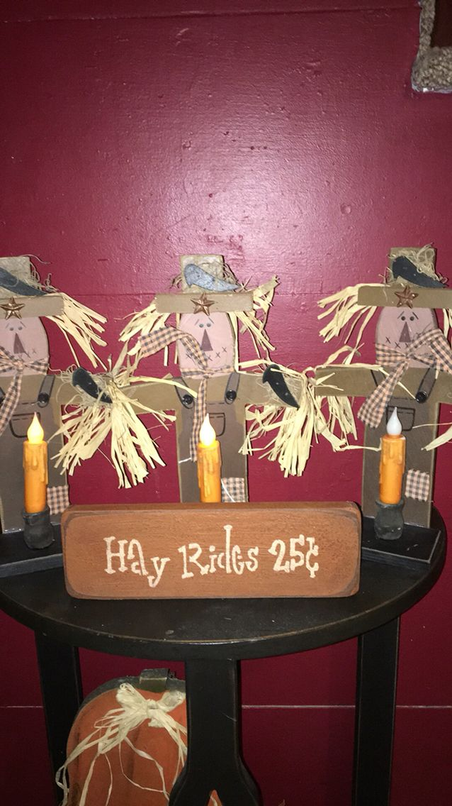 Primitive scarecrows https://m.facebook.com/pages/The-Cozy-Country-Craft-House/575638289196544