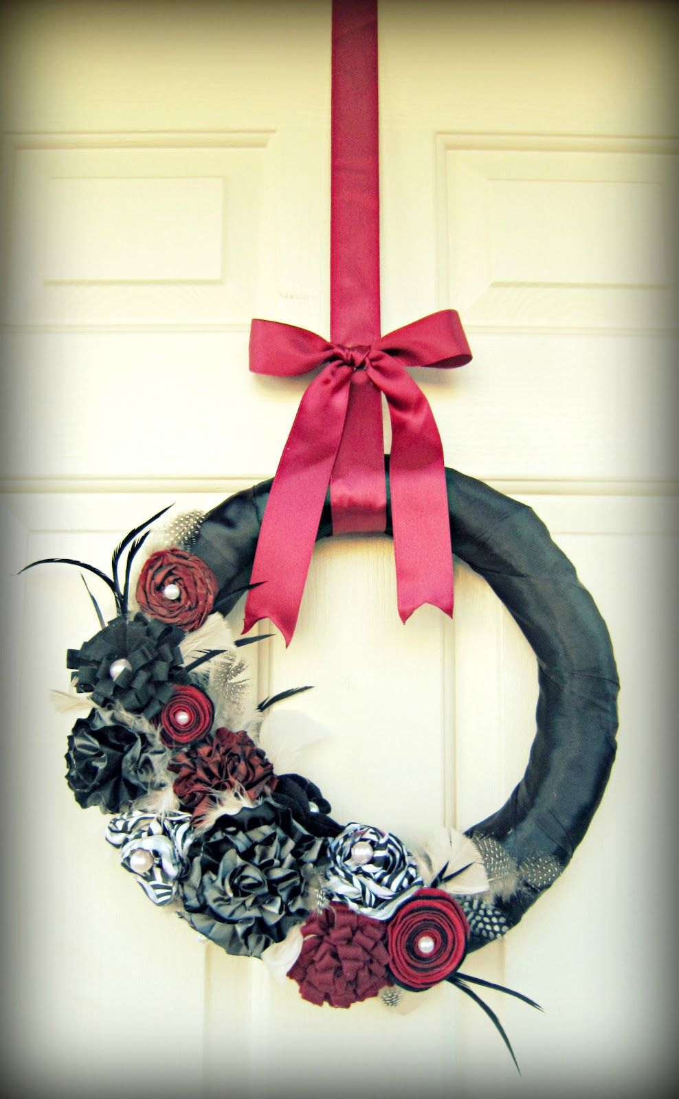 Easy ribbon wreath hanger tutorial with images wreath