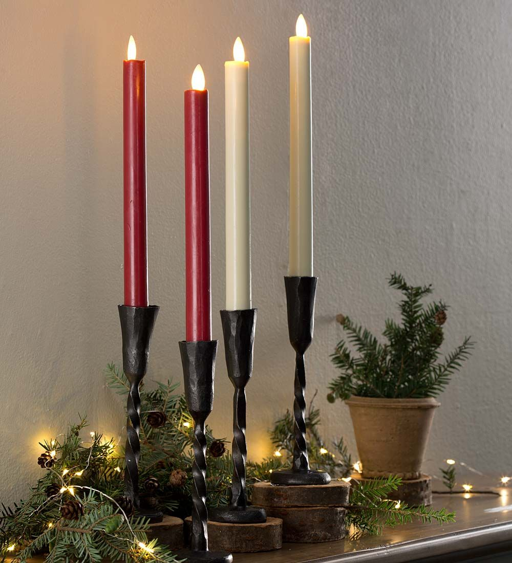 Flameless LED Taper Candle Pair with Auto Timer | Candles