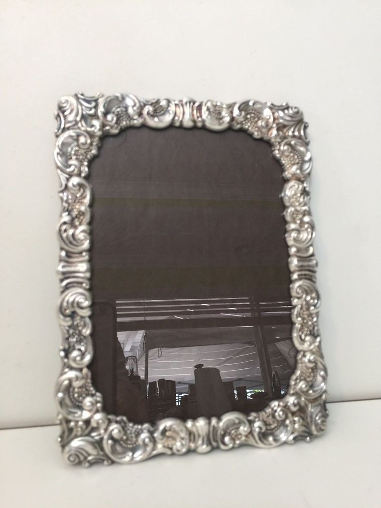 Vintage Elegant Baroque By Wallace Silver Plate Picture Frame 5