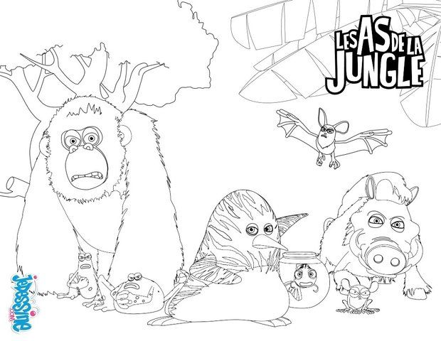 Coloriage les as de la jungle pinterest coloriage - Dessin de jungle ...