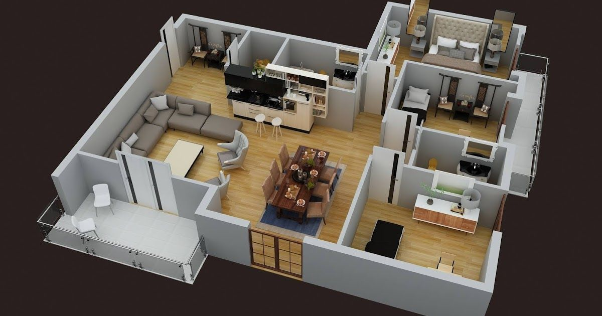 3d Floor Plan Render Services With Images Rendered Floor Plan