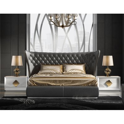 Best Everly Quinn Knorr Panel 3 Piece Bedroom Set Size King 400 x 300