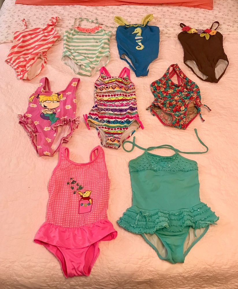c1896033f9 GYMBOREE NICKELODEON RUGRATS GOTTEX POOH KATE MACK 6 6X SWIMWEAR SWIMSUIT  LOT | Clothing, Shoes