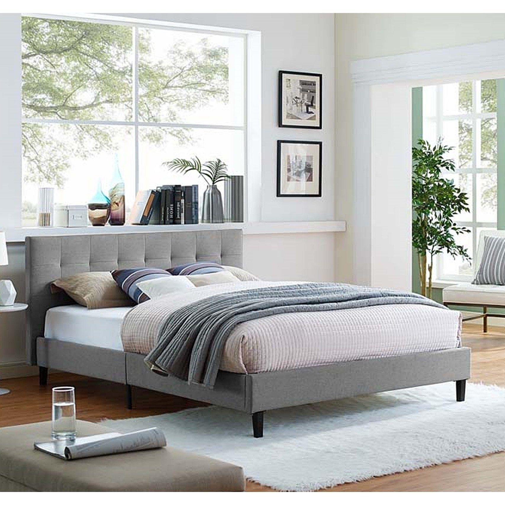 Best Copper Grove Silistra Full Size Light Grey Fabric Platform 640 x 480