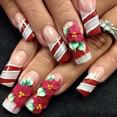 Pin by juliane mendes on prolas pinterest holiday nails christmas nails xmas nails christmas nail designs creative nails 3d nails winter nails gel nail trendy nails prinsesfo Gallery