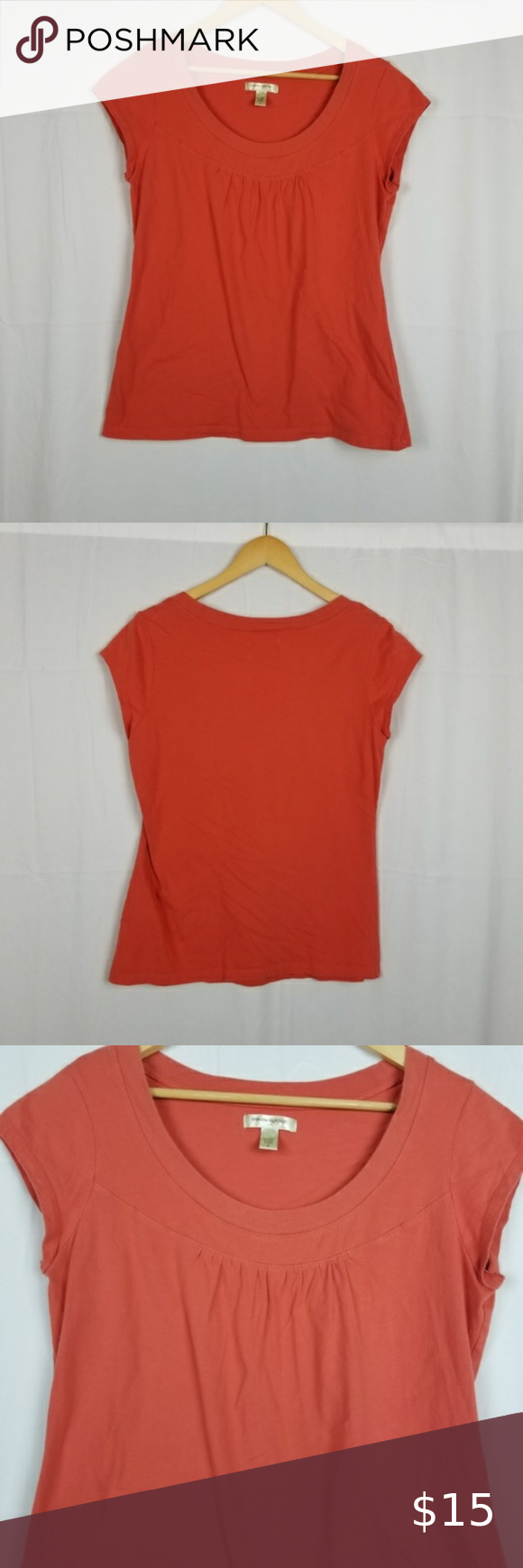 Banana Republic Factory Coral TShirt Size M in 2020