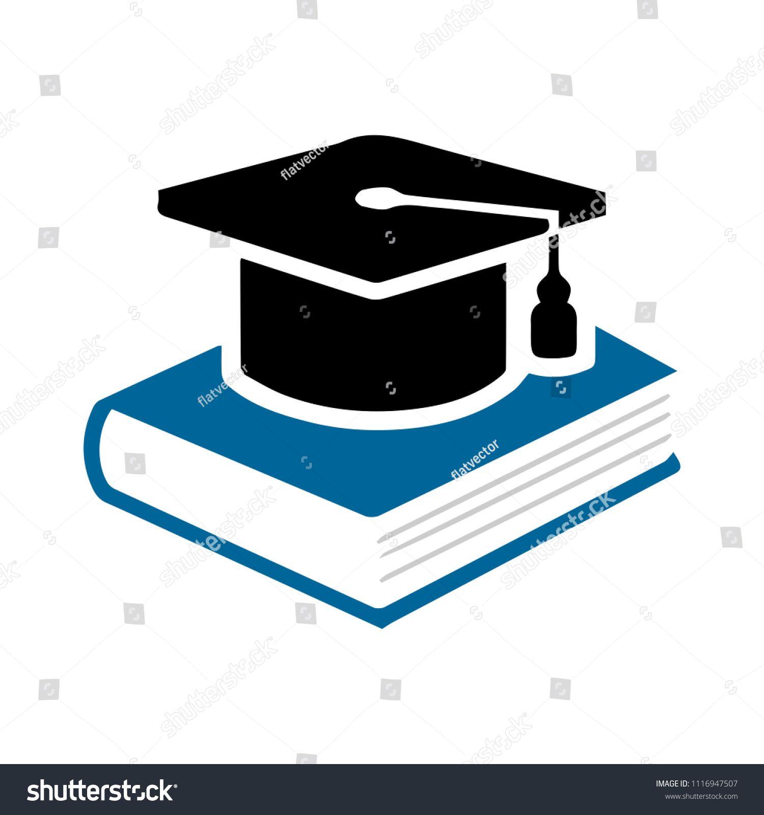 Book With Vector Graduation Cap Education Icon Academic