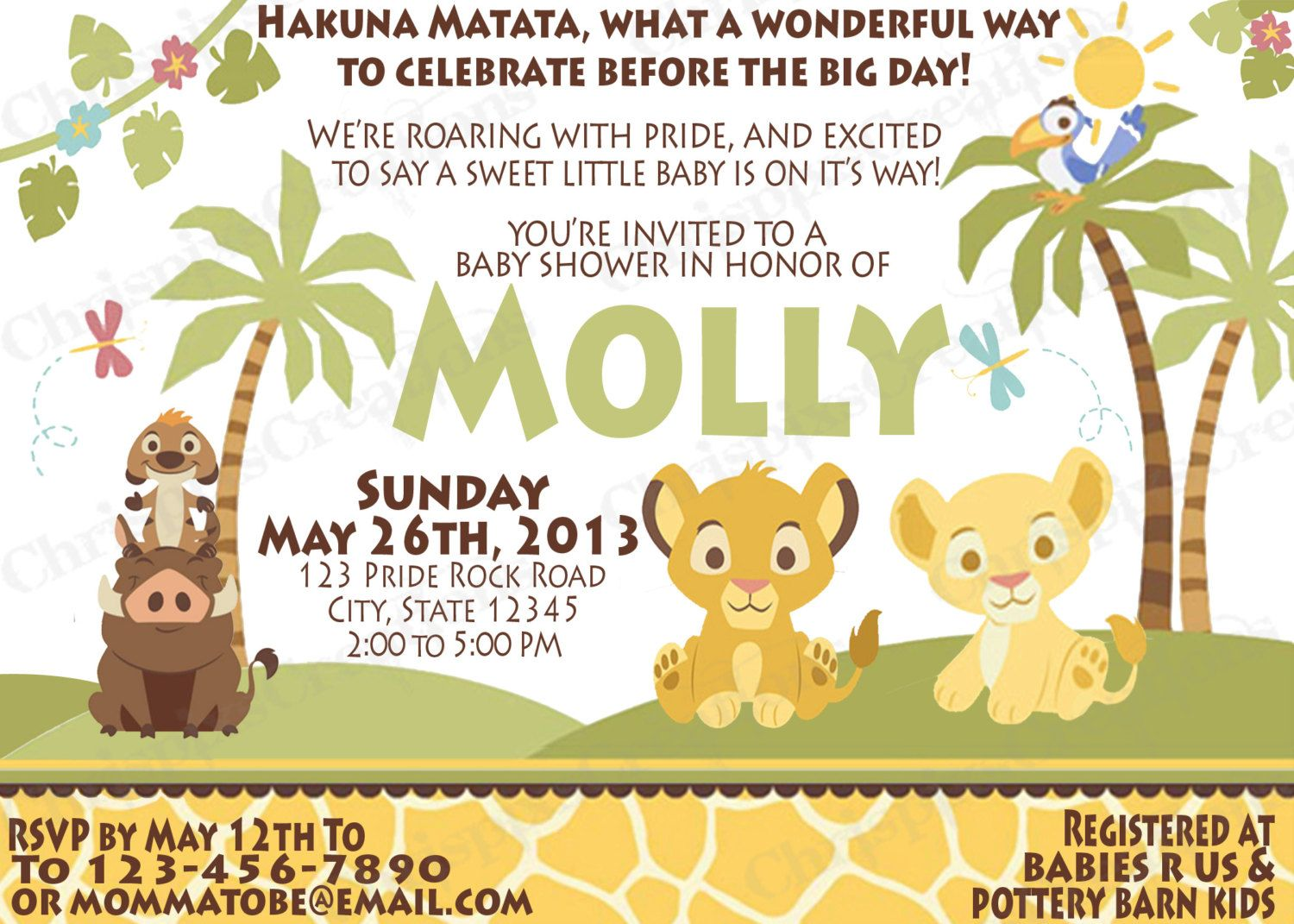 Eeeee lion king baby shower invitation print at home 800 via lion king baby shower invitation print at home 800 filmwisefo Gallery