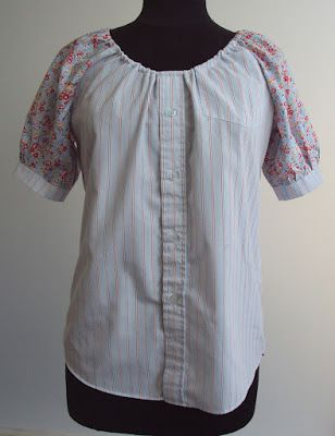 'So, Zo...': Refashion Friday Inspiration: Contrast Sleeve Smock Top Shirt/Blouse