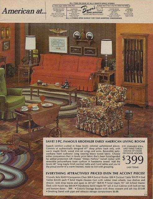 Early American Living Room Early American Furniture Vintage