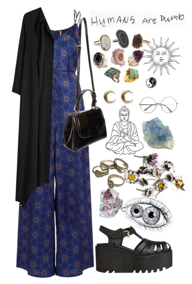"""""""dumbbbbb"""" by ohsweetmelancholia ❤ liked on Polyvore featuring Topshop, Y's by Yohji Yamamoto, LowLuv and Fendi"""