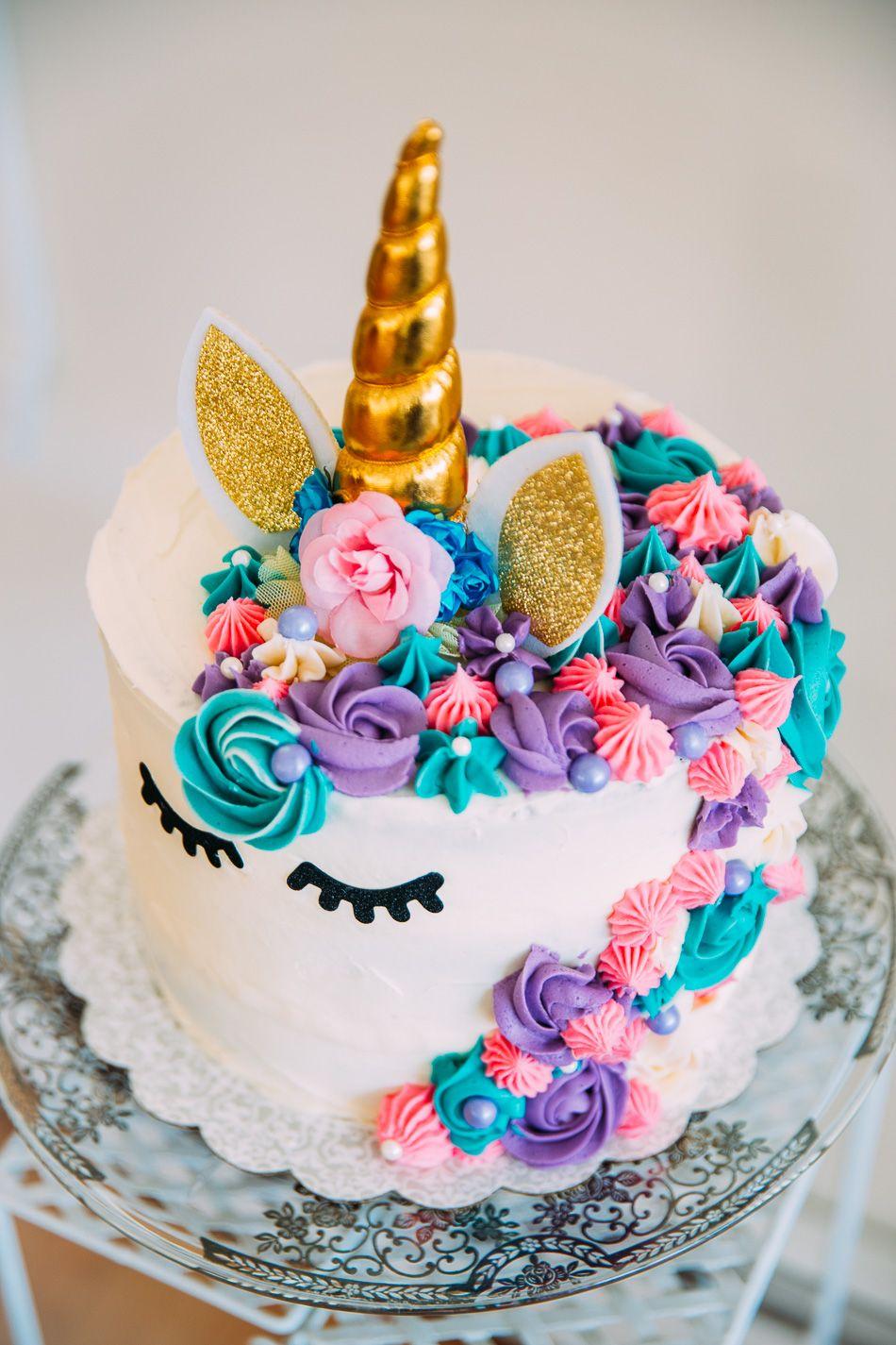 Marina's Unicorn Birthday Party unicorncake unicornparty