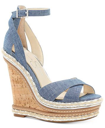Jessica Simpson Ahnika Ankle Strap Wedge Sandals |