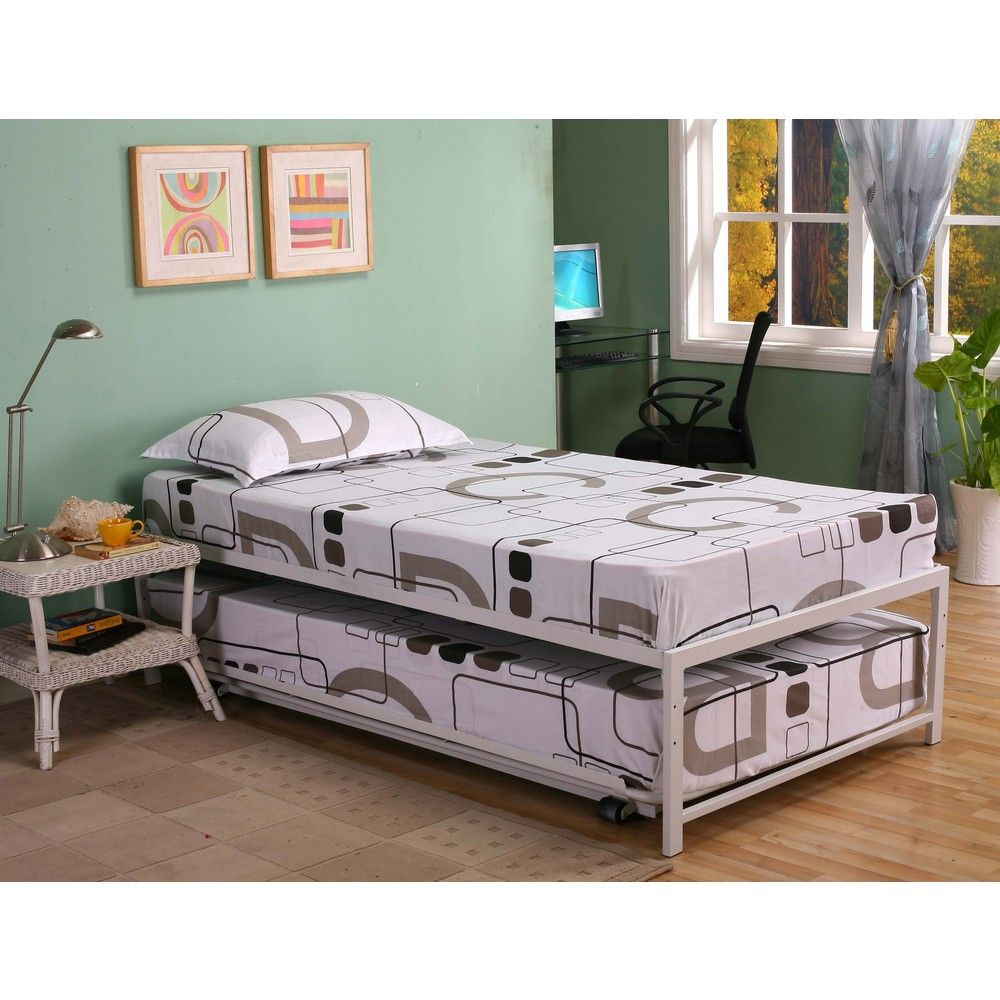 K B Hi Riser Twin Bed With Pop Up Trundle Overstock Shopping