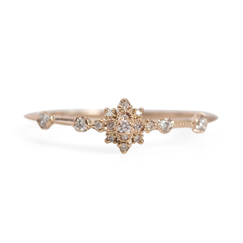 the flower engagement cocktail ring kaitlyn butterfly edwardian diamond rings no white lotus vintage gold unique products