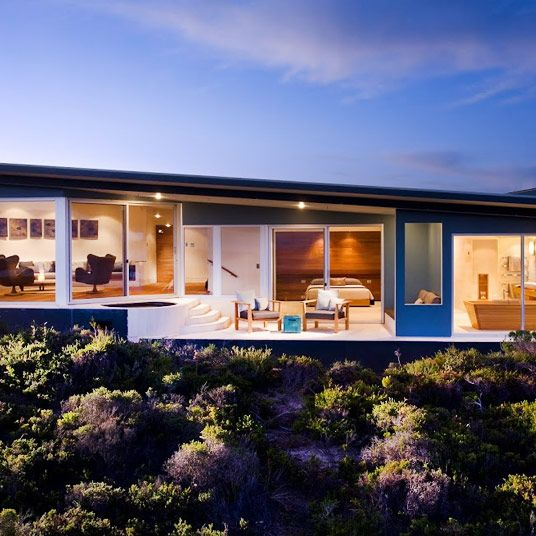 A low-built, mini-suite with dipping pool at Southern Ocean Lodge on Kangaroo Island