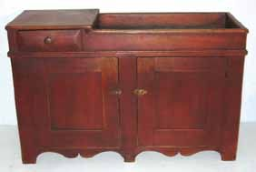 Early Pine PA. Dry Sink old red paint