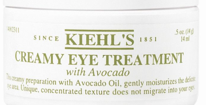 Moisturized eyes =depuffed eyes with no fine lines. Thank you, avocado oil! Kiehl's, $47