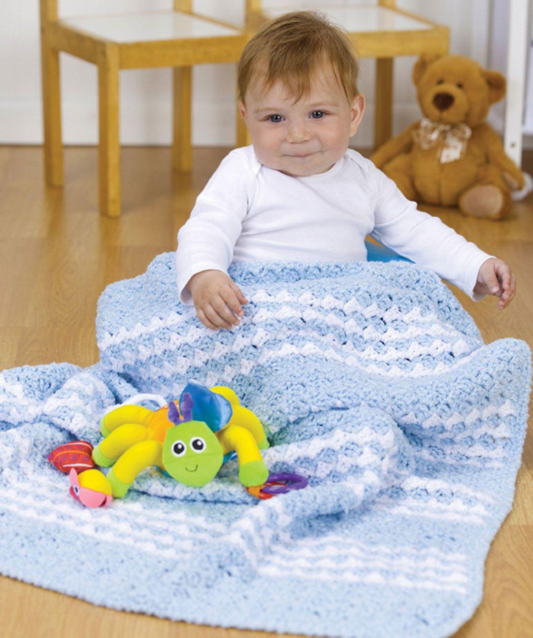 Gestreifte Babydecke | Handarbeiten | Pinterest | Babydecken ...