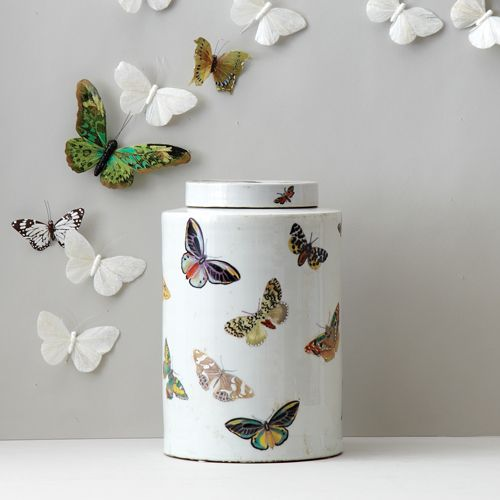 Limited Edition French Artist Porcelain Butterfly Art Tea