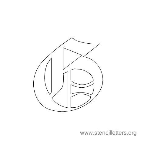 Gothic Stencil Letters