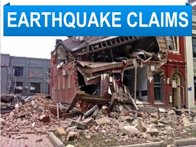 earthquake damage claims adjuster