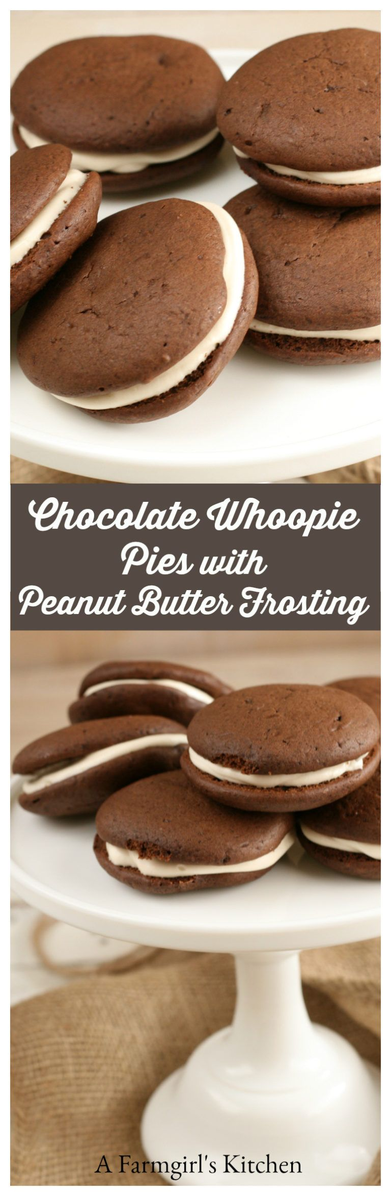 Make these delicious homemade Chocolate Whoopie Pies with
