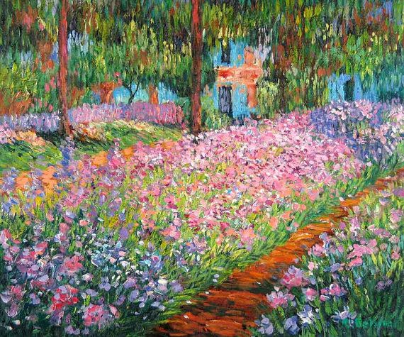 Artist S Garden At Giverny Cross Stitch Pattern Pdf Etsy