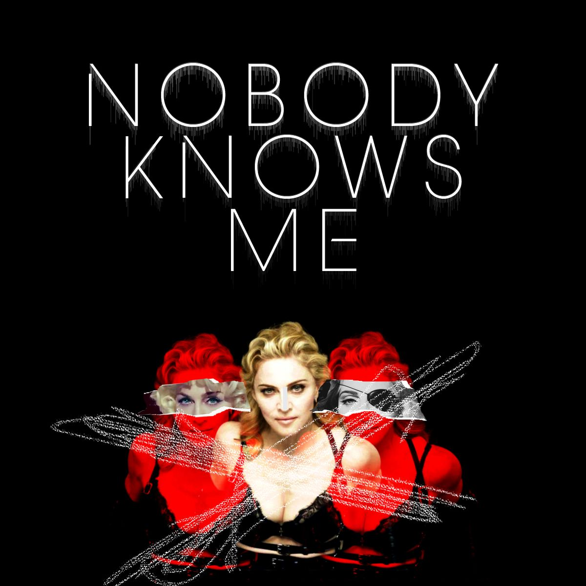 Madonna – Nobody Knows Me (single cover art)