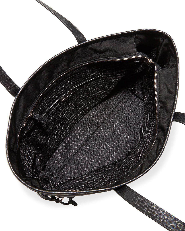 d3c9cab585cb Prada Vela Side-Cinch Shopping Tote Bag (Nero) #Pradahandbags ...