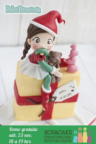 Demo tarta duende navidad navidad porcelana fria fimo for Adornos navidenos en porcelana fria utilisima