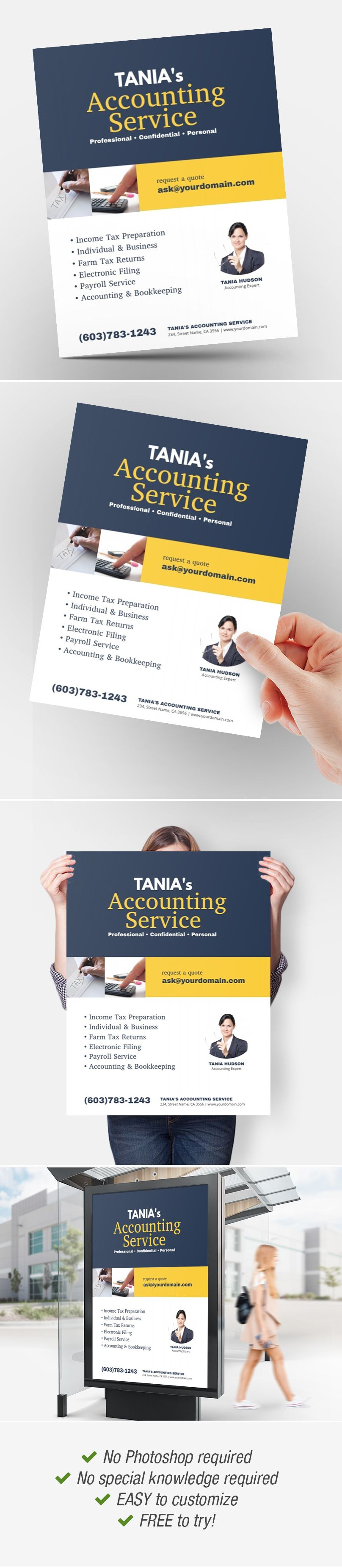 Accounting Service Flyer Poster Ad Template Accounting Services Flyer Accounting