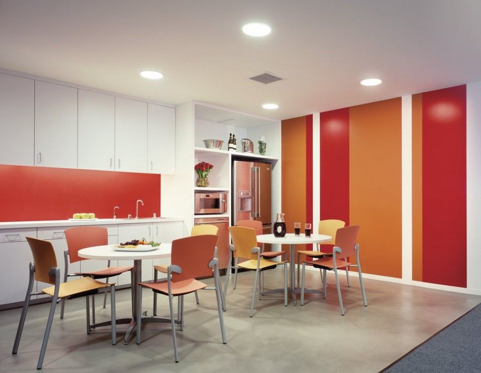 Office Incredible Break Room Design With White Kitchen Cabinet And Nice Looking Chair Ideas Awesome B Office Break Room Break Room Design Office Cabinet Design