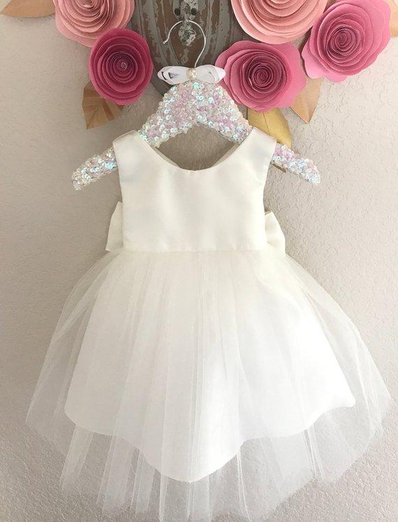 74f5fba1028a2 Christening Baby Girl Dress Baptism Dress White Baby Girl Gown ...
