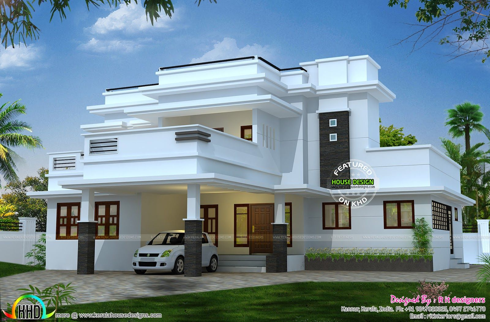 2995 Square Feet 3 Bedroom Flat Roof House Flat Roof House
