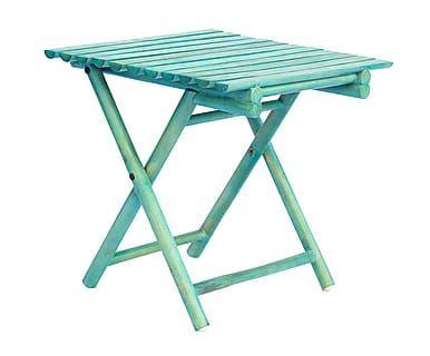 Tavolino Terrazzo ~ Tavolino pieghevole in pino tawang azzurro cm terrazzo