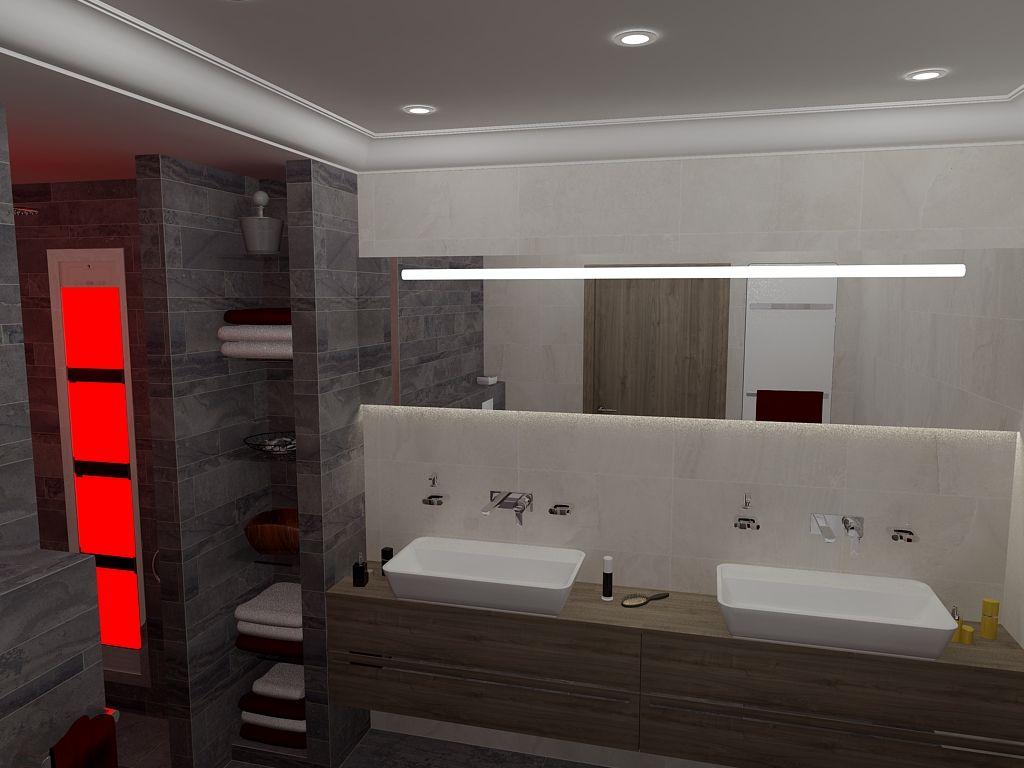 Scheiding tussen plafond badkamer en douche die de inloopdouche iets ...