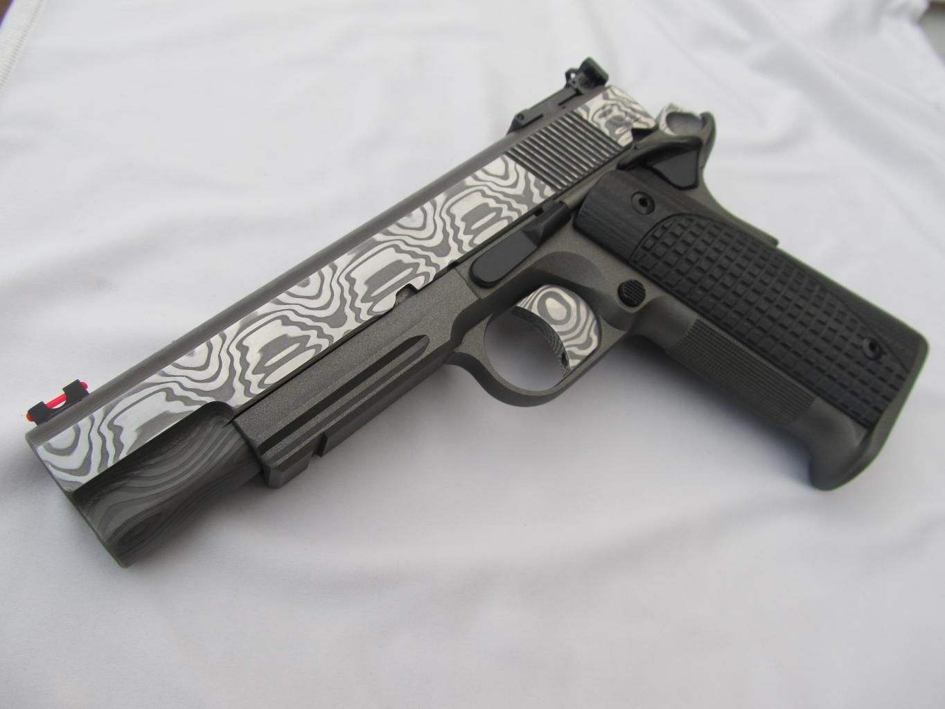 Beautiful Caspian Damascus 1911   1911: aka The Pistol