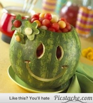 17 Amazing Watermelon Carvings- hey, why DO we carve pumpkins and not watermelons? Sounds like a cool competition, especially for year-round schools!