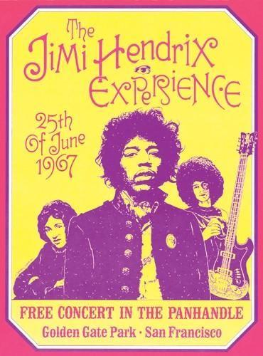 The Jimi Hendrix Experience San Francisco 1967 - 19x14 - concert poster