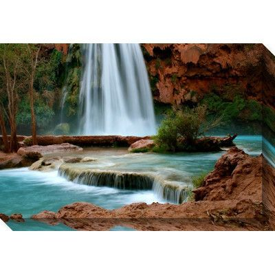 Darby Home Co Sublime Havasu Falls Painting Print on Wrapped Canvas