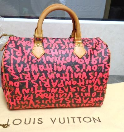 c81f93a4125 LV STEPHEN SPROUSE FUSCHIA GRAFFITI BAG 30 SPEEDY. LOUIS VUITTON. PARIS.  GUARANTEED AUTHENTIC. NOW IN STORE. MINT CONDITION. — at pilgrim 70 orchard  street ...