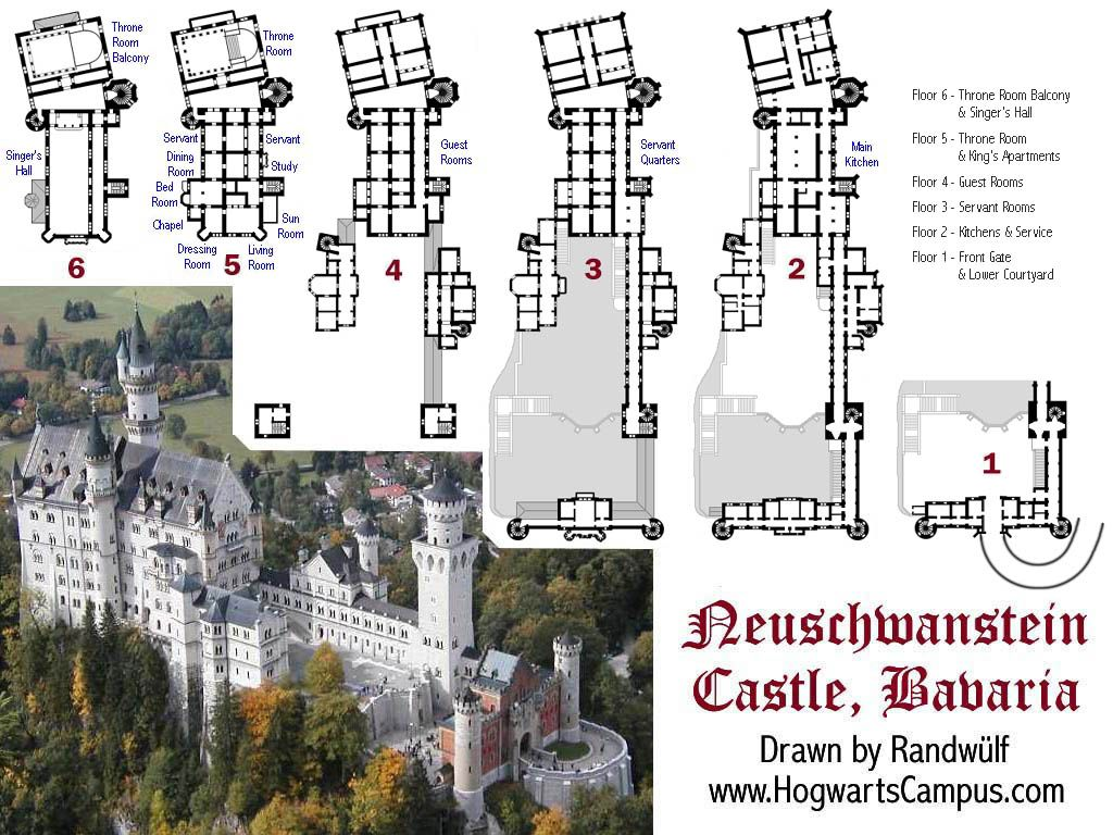 Neuschwanstein Castle Castle Floor Plan Castle Plans Neuschwanstein Castle